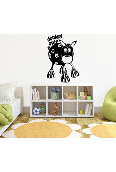 Tatfast Donkey Cute Duvar Stıcker 40 x 60 cm Siyah