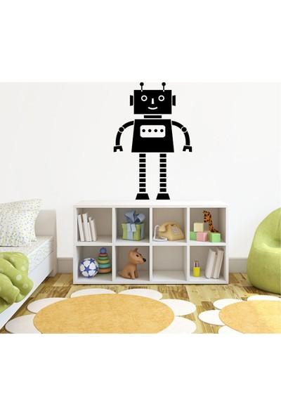 Tatfast Robot Duvar Stıcker 40 x 60 cm Siyah
