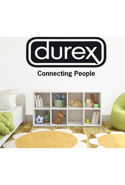 Tatfast Durex Connectıng People Duvar Stıcker 40 x 80 cm Siyah