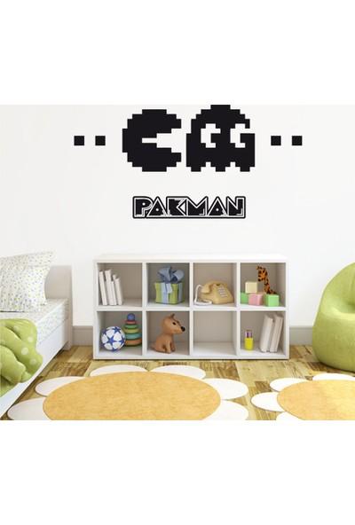 Tatfast Pacman Duvar Stıcker 40 x 80 cm Siyah