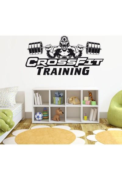 Tatfast Crossfit Training Duvar Sticker 60 x 120 cm Siyah