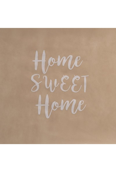 Ocean Home Mega Boy Bej Renk Home Sweet Home Baskılı Hurç // 74X46X46