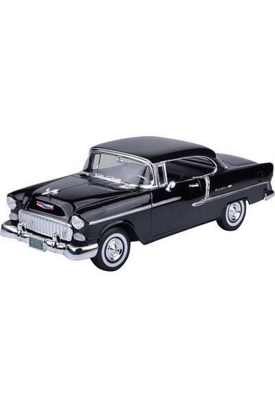 Vardem Motor Max 1955 Chevy Bel Air Nikelajlı Siyah 1:18 Model Araba