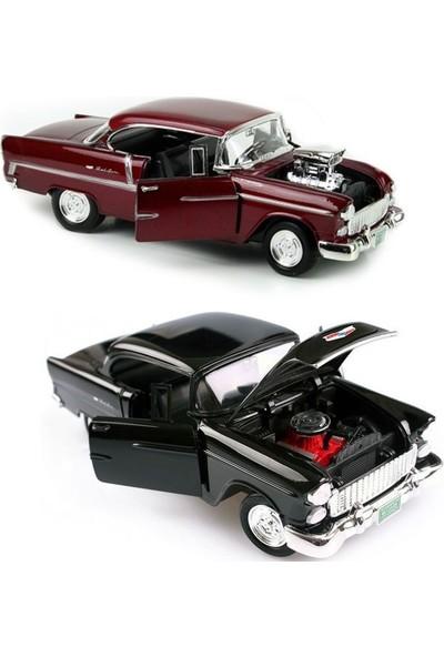 Vardem 1955 Chevy Bel Air Siyah 1:18 Model Araba