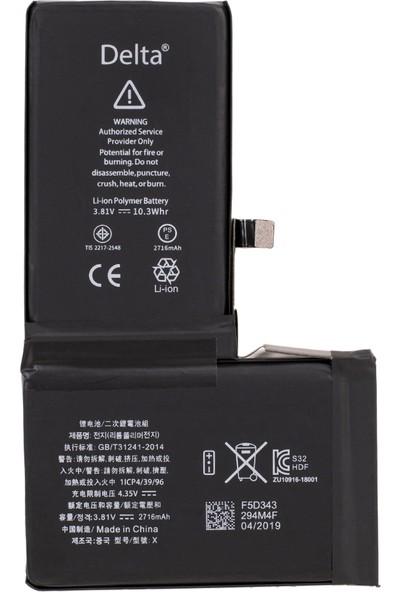 Delta Apple iPhone x Batarya 2716mAh Gerçek Kapasite Delta Mobile