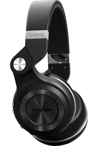Bluedio T2+ Plus Turbine Mikrofon Micro SD Kart Yuvası FM Radyo Wireless Bluetooth Kulaklık - Siyah