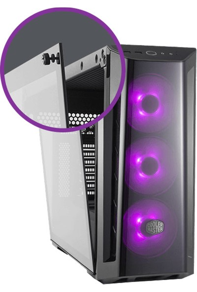 Cooler Master MasterBox MB520 Tempered Glass RGB Led 3x120mm Fanlı Akrilik Ön Panel Pencereli MidTower Kasa (RC-MCB-B520-KGNN-RGB)