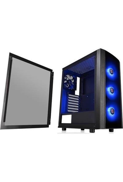 Thermaltake Versa J25 Tempered Glass RGB 120mmx3 Fanlı Siyah MidTower Oyuncu Kasası (PSU Yok) (CA-1L8-00M1WN-01)