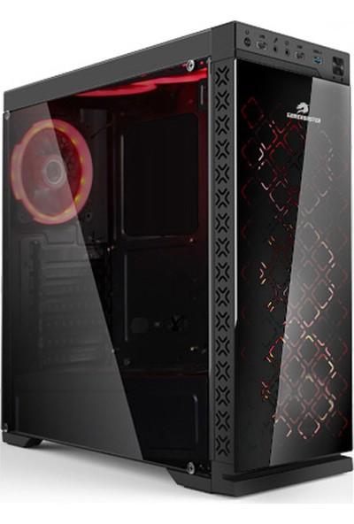 GameBooster GB-G08B 600W USB 3.0 Full Siyah Transparent RGB Fan, Siyah Kasa (JBST-GBG08B)