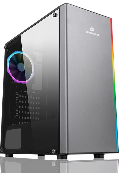 GameBooster GB-G3602B USB3.0 Siyah Rainbow RGB Steel Led Strip Kasa (PSU Yok) (JBST-GBG3602B)