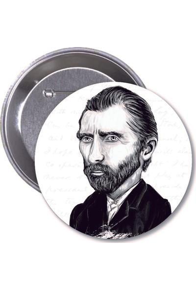 Vincent Van Gogh Karikatür Rozet