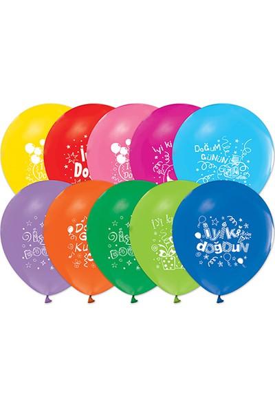Event Party Store Balon 100'lü İyiki Doğdun Renkli