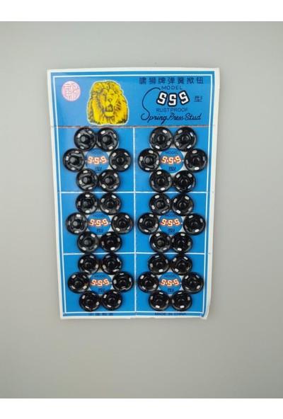 Event Party Store Çıt Çıt Düğme Siyah 1 cm x 36'lı