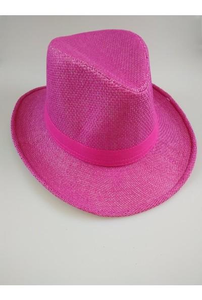 Event Party Store Hasır Şapka Fuşya