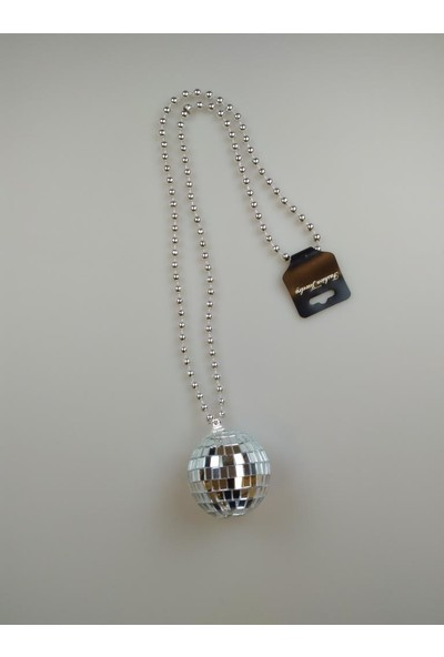 Event Party Store Kolye Disko Topu Gümüş 5 cm