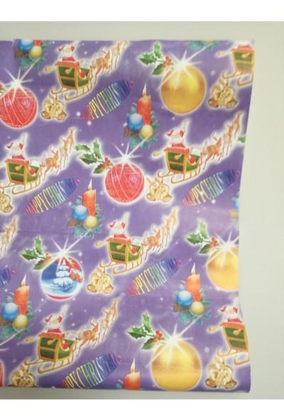 Event Party Store Yılbaşı Hediye Kağıt Noel Baba Lila