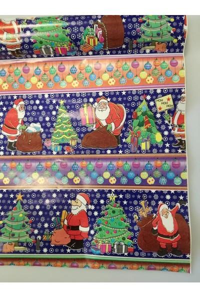 Event Party Store Yılbaşı Hediye Kağıt Noel Baba Mavi