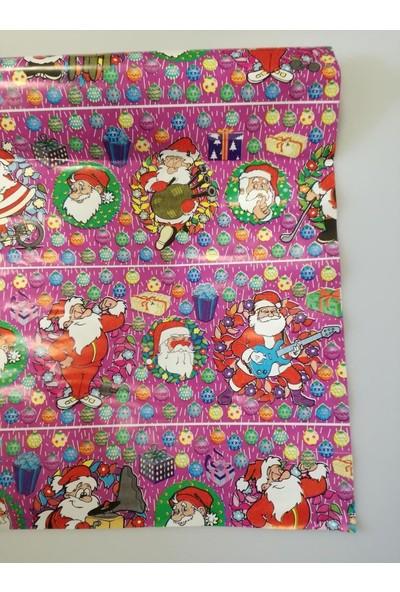 Event Party Store Yılbaşı Hediye Kağıt Noel Baba Pembe