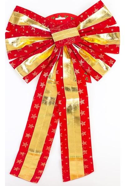 Event Party Store Yılbaşı Kırmızı Gold Şeritli Fiyonk