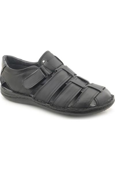 Man Önü Kapalı Deri Erkek Sandalet