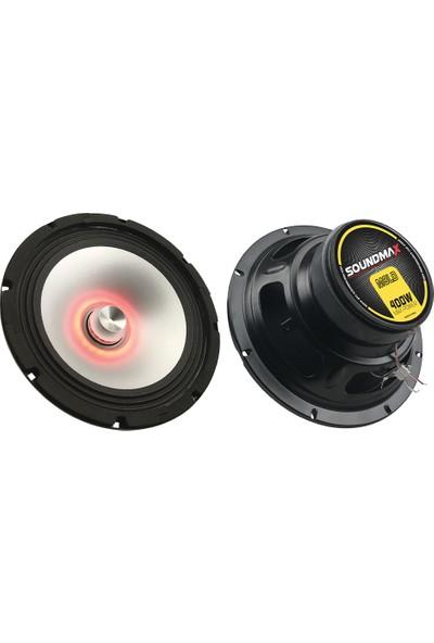 Soundmax Sx-M8Ld 20 Cm Led Midrange Speaker 400W Kırmızı Renk tekli kutu