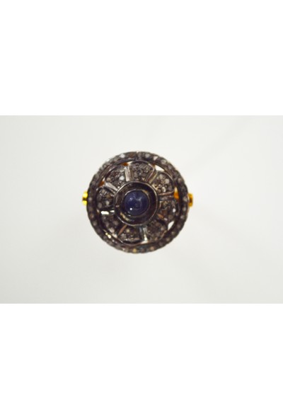 Sufi Design, Pırlanta ve Safir Taşlı , Gümüş Yüzük GPR0054