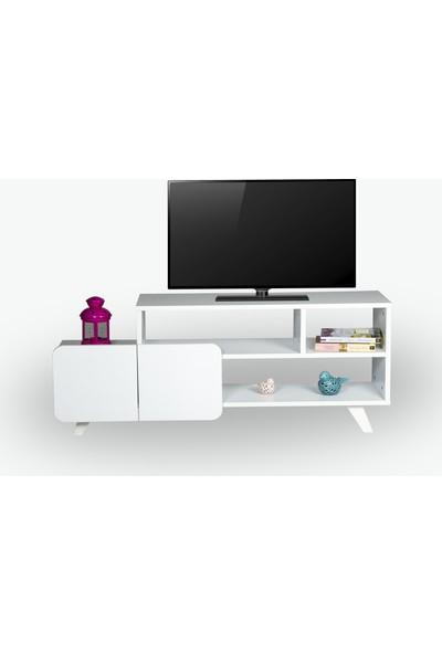Missia Mobilya Monza 120 cm Tv Ünitesi Beyaz