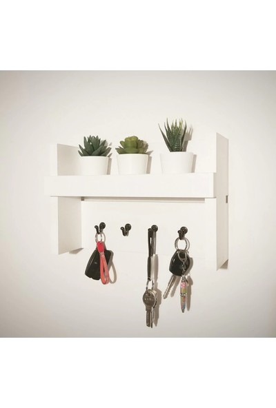 Ella Home CB012 El Yapımı Ahşap Çok Amaçlı Antre Duvar Askı Anahtarlık