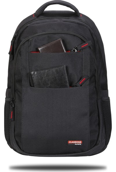 Classone BP-L300 15,6 inç Notebook Sırt Çantası-Siyah