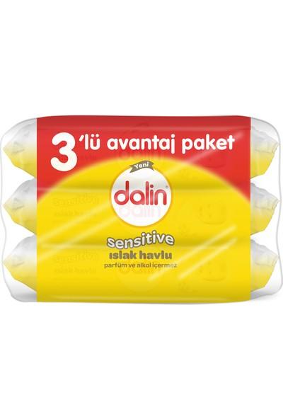 Dalin Sensitive Islak Havlu 3'lü Paket 156 Yaprak