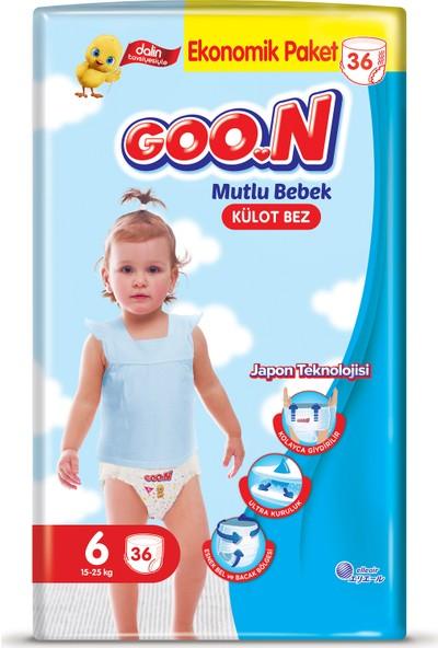 Goon Mutlu Bebek Külot Bez 6 Beden Ekonomik Paket 36 Adet