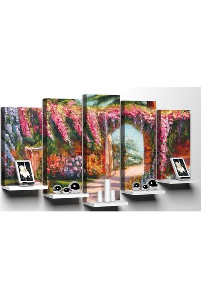 Modacanvas By Cadran 100 x 60 cm 5 Parçalı Raflı Kanvas Tablo MRF137