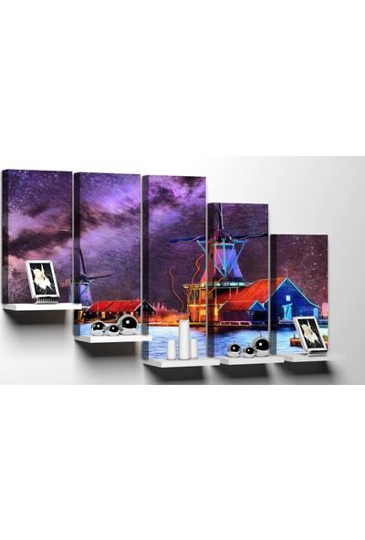 Modacanvas By Cadran 100 x 60 cm 5 Parçalı Raflı Kanvas Tablo MRF294