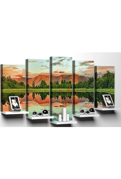 Modacanvas By Cadran 100 x 60 cm 5 Parçalı Raflı Kanvas Tablo MRF183