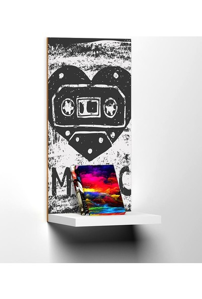 Modacanvas By Cadran 20 x 40 cm Dekoratif Raflı Mdf Tablo TKMD265