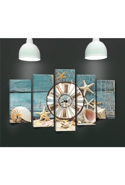 Canvastime By Cadran 100 x 60 cm Dekoratif 5 Parçalı Kanvas Saat PGS026