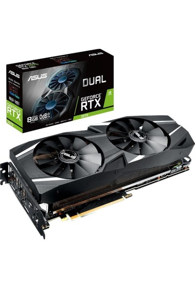 Asus Dual GeForce RTX 2070 8GB 256Bit GDDR6 (DX12) PCI-E 3.0 Ekran Kartı (DUAL-RTX2070-8G)