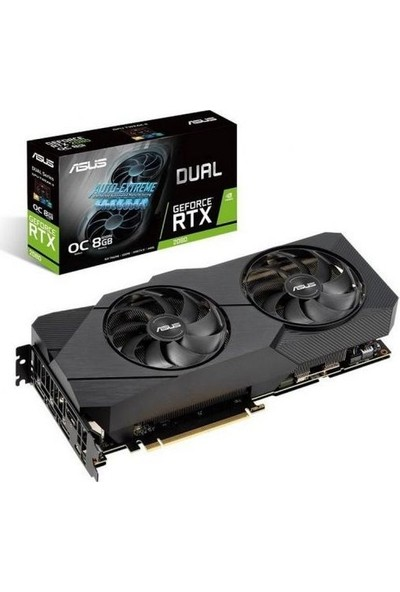 Asus Dual GeForce RTX 2080 Advanced Edition 8GB EVO 256Bit GDDR6 (DX12) PCI-E 3.0 Ekran Kartı (DUAL-RTX2080-A8G-EVO)