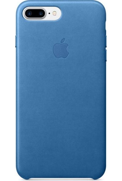 Daytona Apple iPhone 7/8 Plus Deri Kılıf - Mavi
