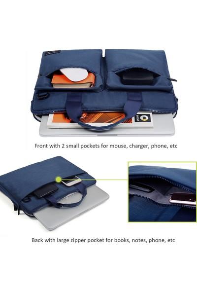 """Cartinoe 13.3"""" Su Geçirmez Omuz Askılı MacBook Notebook Evrak Çantası Suit 411 Mavi"""