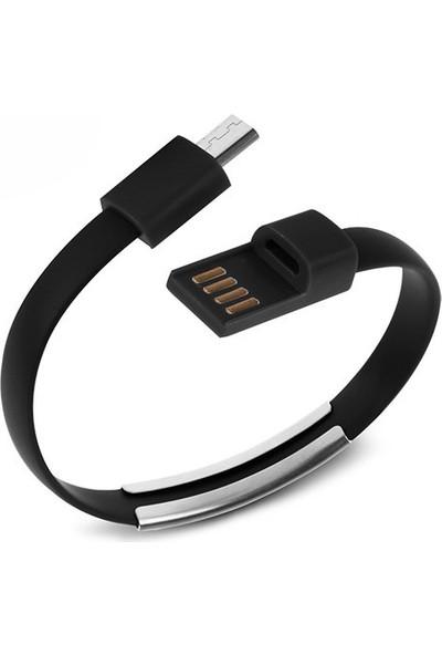 Codegen USB 3.1 Type-C Uyumlu Siyah Bileklik Şarj Data Kablosu CDG-CNV70