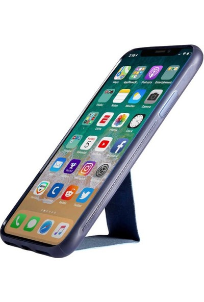 Roar Apple iPhone Xs Max Aura Standlı Şeffaf Silikon Kılıf Black