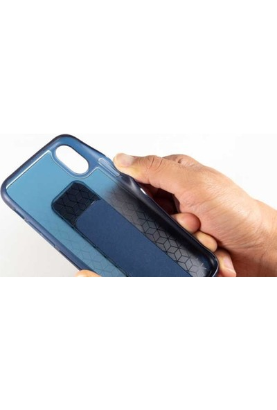 Roar Apple iPhone Xs Max Aura Standlı Şeffaf Silikon Kılıf Blue
