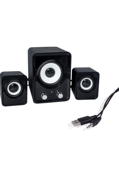 Platoon FT-202 USB Mini 2+1 Bass Speaker Ses Sistemi