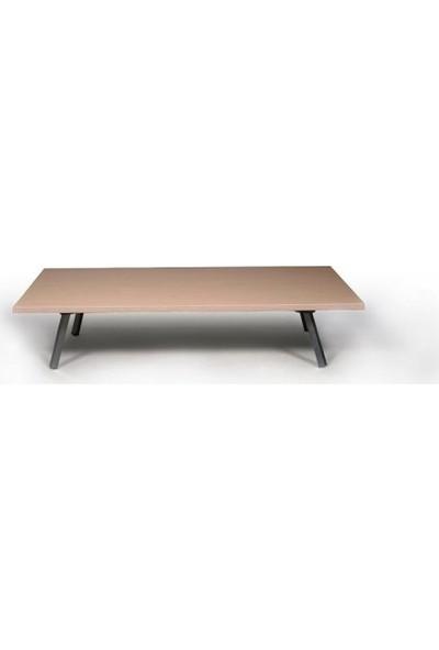 Metal Katlanır Ayaklı Dikdörtgen Masa Ahşap Yer Sofrası 70X120 cm
