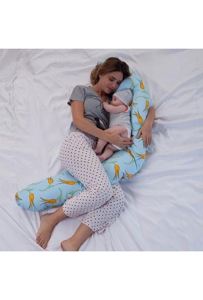 Ninniline Designo Hamile ve Emzirme Yastığı /Sarı-Kuzu