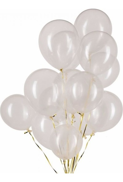 Happyland 7 Adet Şeffaf Transparan Balon Latex 12 Inc 30 cm Içi Görülebilir Özellikte