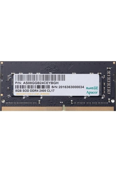 Apacer 8GB 2400MHz DDR4 Ram A4S08G24CEIBH05-1