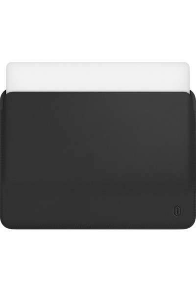 "Wiwu MacBook Pro Air Retina 13.3"" Vegan Deri Sleevebag SkinPro Çanta Koruyucu Kese Kılıf 478 Siyah"