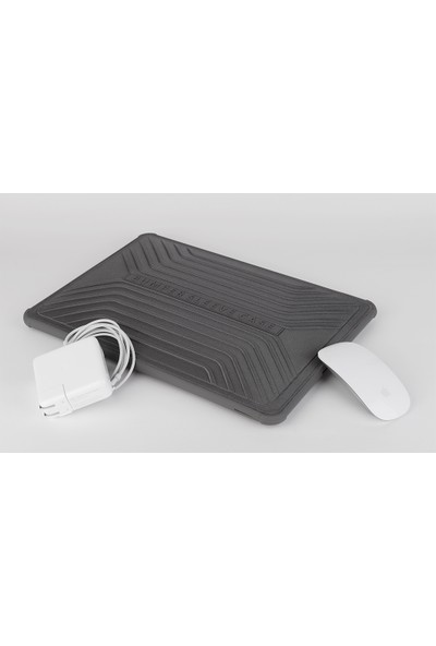 "Wiwu Bumper Sleeve Case MacBook Pro Air Retina 13.3"" Darbe Emici Laptop Kese Kılıf 1151 Gri"
